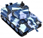 Mini RC Tank TIGER 1/72, Military mimikry blue