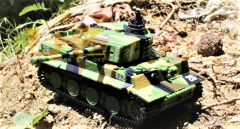 Mini tank TIGER 1/72, Military mimikry grass