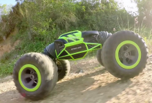 Hyper actives stunt TRANSFORMUJÍCÍ off-road auto, zelená
